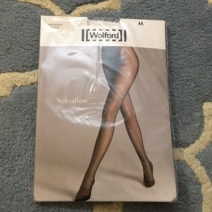 NWT White Wolford Netsation Tights